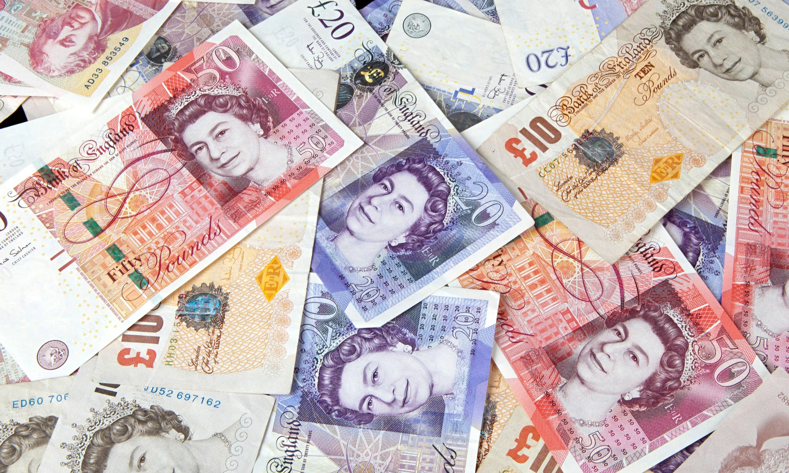 British banknotes money